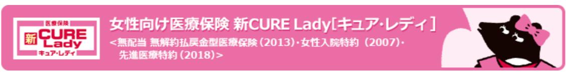 女性向け医療保険 新CURE Lady[キュア・レディ]|オリックス生命保険株式会社